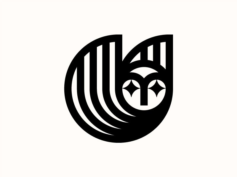 Fukuro vintage modern birdie symbol bird owl logo