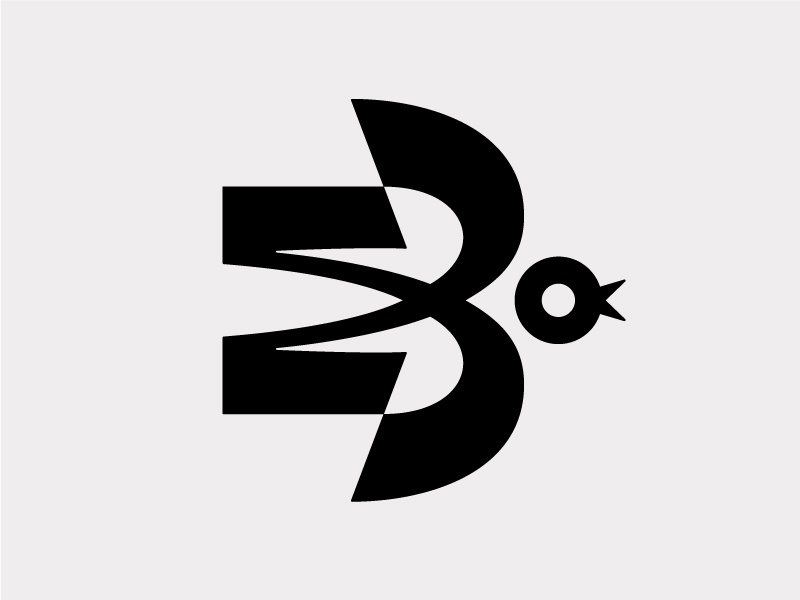 М + З + ласточка (Swallow) modern dird logo bird symbol mark symbol icon swallow
