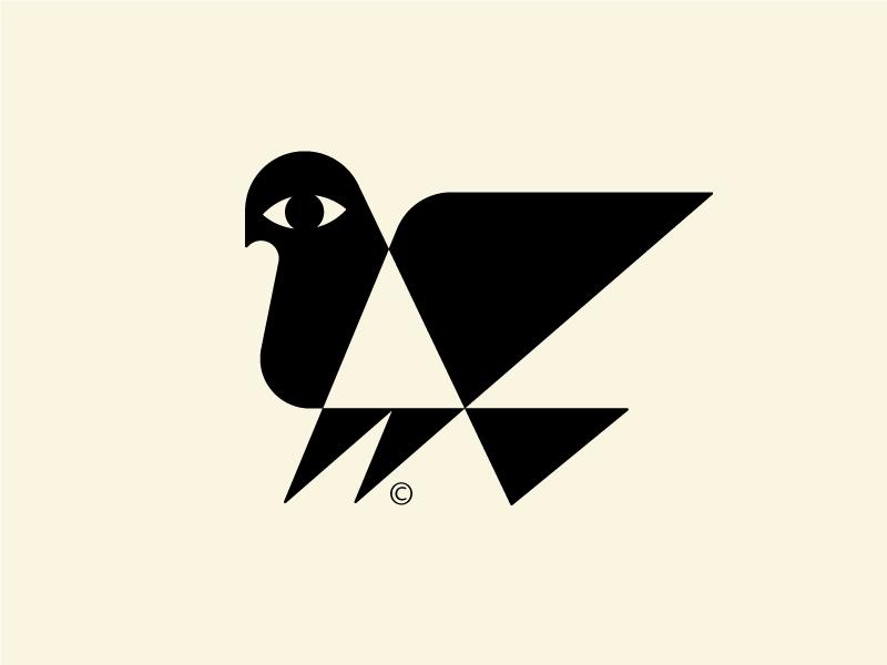 Bird Modernism symbol dove vintage modernism oldstyle bird logo birdie bird