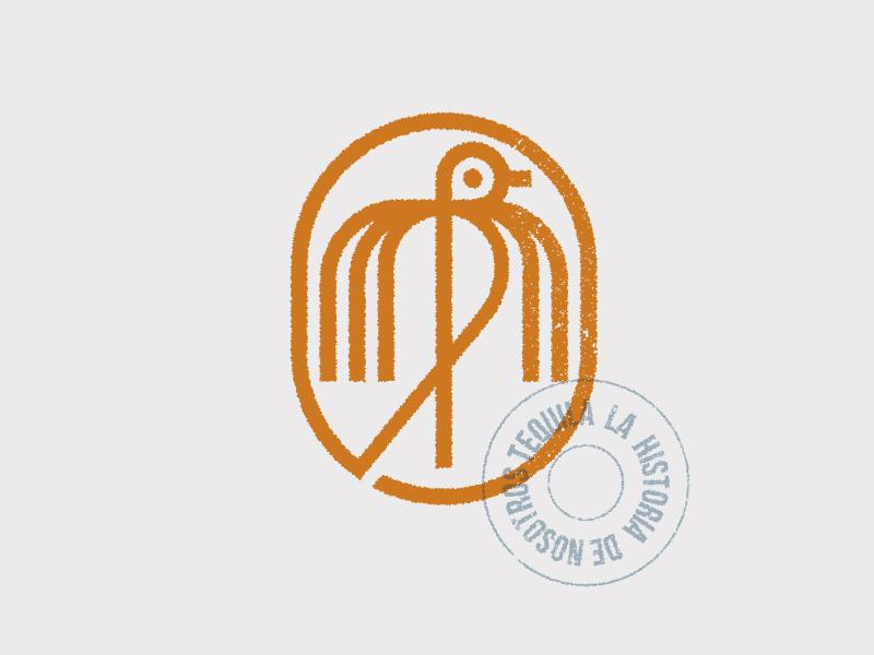 Nosotros modern geometry mark bird logo vintage bird symbol logo