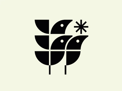 Bird Brothers mark bird logo geometry animal logotypes bird vintage modern