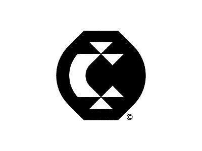 Сeramist mark modernism letter vintage modern geometry symbol logo