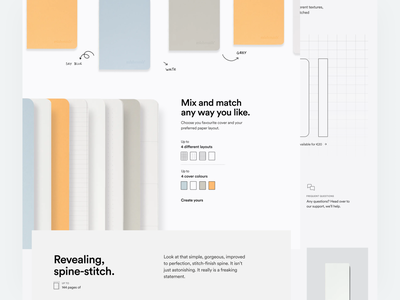 mishmash® — Product on Scroll notebook handwritten significa mishmash stationery product page ecommerce ux ui