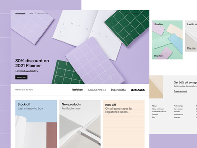 mishmash® — Homepage shop notebook significa mishmash homepage stationery ecommerce ux ui