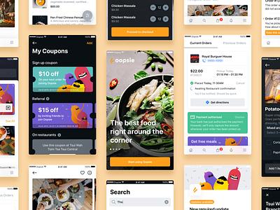 Oopsie — Screen Grid restaurant food mobile app san francisco coupon grid oopsie significa orange mobile android ios