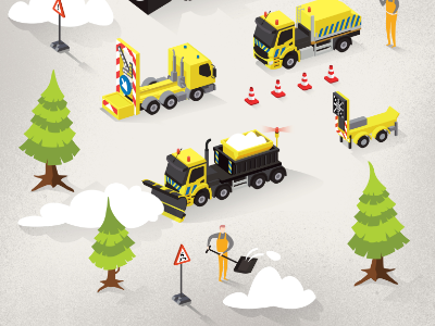 Infographic Snow Cleaning Service