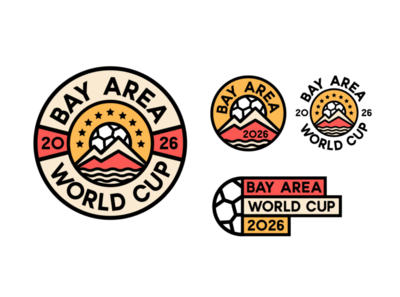 Bay Area World Cup 2026 illustration design area bay baseball sports branding logo football
