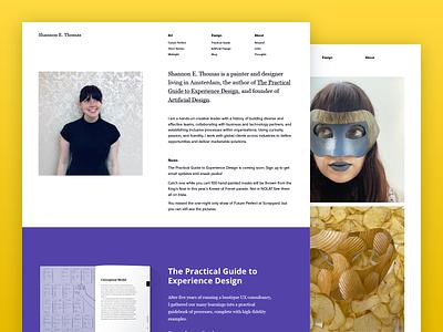 Author Website web design typography painting book art website web