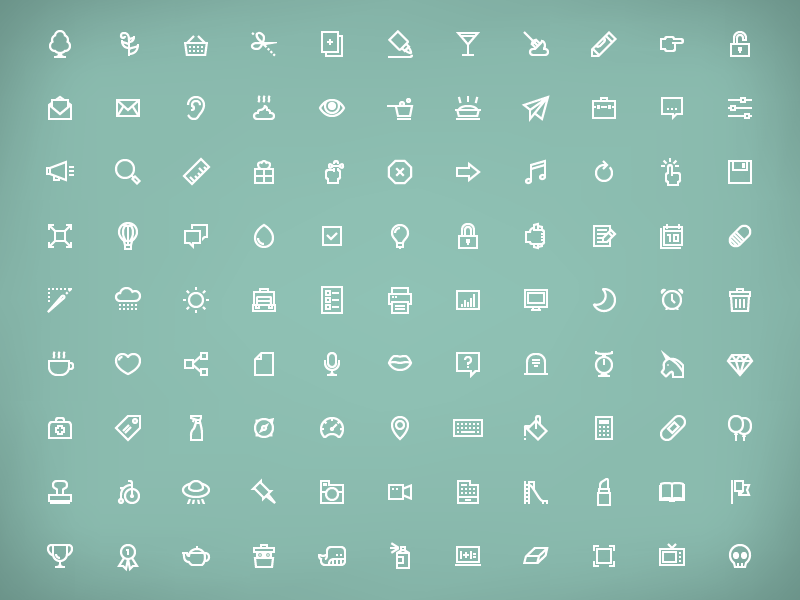 simple line icons icons iconography lines unicorn whale set simple whimsical
