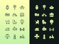 Icons for getting around