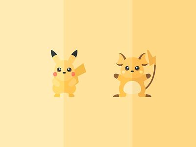 Pikachu illustration iconography lightening electric pokemon raichu pikachu