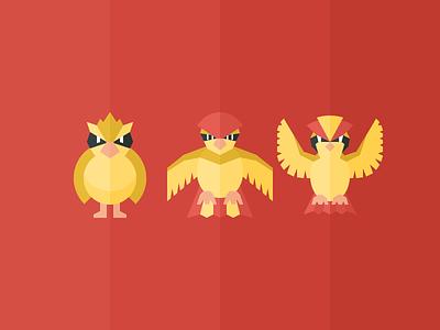 Pidgey illustration flying pokemon iconography bird pidgeot pidgeotto pidgey