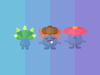 Oddish character game vileplume gloom oddish plant pokémon iconography icon