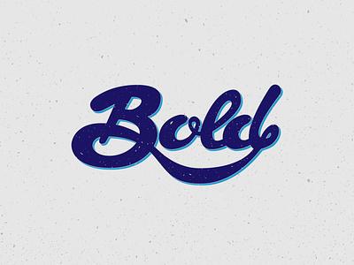 Bold bold type fun logo vector typography design