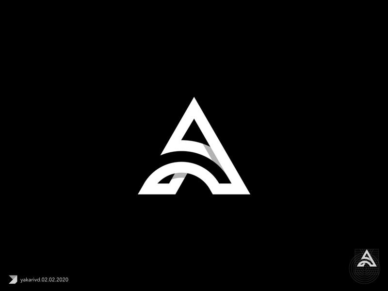 One of the A monogram concepts fun geometric grid logo illustrator cc letter a monogram symbol flatdesign bold vector logo design