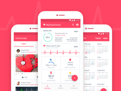 Pacemaker Check @myheartchec @fevialmeida heartbeat rate heart health ux startupmydesign fevialmeida myheartcheck pacemaker