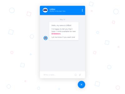 UXBot Chat machine. fevialmeida message ui design chat bot chat ux bot uxbot