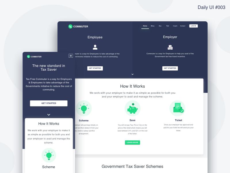 Landing page design   daily ui  003
