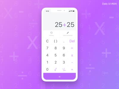 Calculator Design - #004 calculator interface inspiration identity flat design ui daily challenge purple art