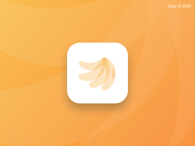 App Icon Design - #005 banana app purple interface inspiration identity flat design daily challenge icon art