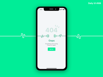 404 Page - #008 interaction empty interface inspiration identity flat design ui daily challenge green art