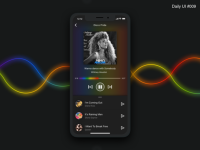 Music Player Design - #009 player ux music interface inspiration identity gay design daily ui challenge pride art