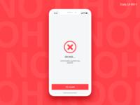 Flash Message Error - #011