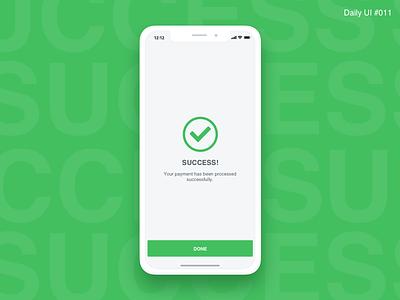 Flash Message Success - #011 flash message interaction challenge ui flat green prototype message inspiration ux design daily ui success