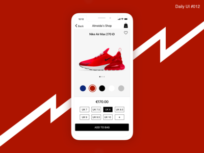 E-Commerce Shop - #012 daily shoes price ux design inspiration design interaction nike shop flat ui red
