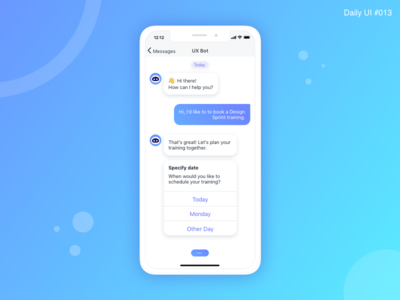 Direct Messaging - #013 🤖 interface ux flat daily 100 dailui daily art app robot interaction ux design message app bot