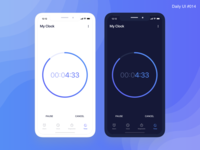 Countdown Timer - #014 😎 blue fevialmeida art identity ux design daily ui interaction challenge daily inspiration ui design