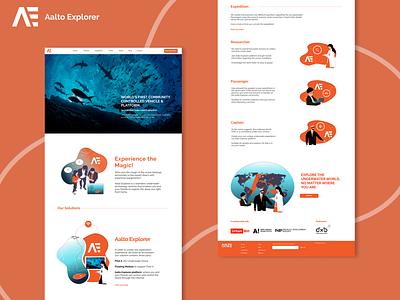 Aalto Explorer Website Design aalto finland underwater explorer ui  ux website