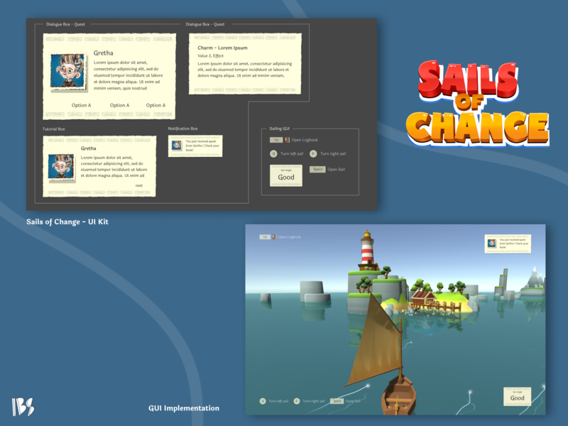 Sail of Change - Gui Design gui games design ui  ux