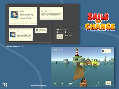 Sail of Change - Gui Design gui games design ui  ux