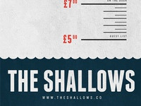 The Shallows gig poster