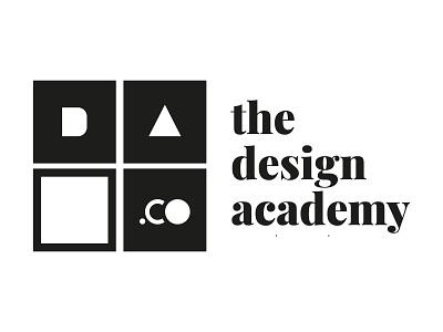 The Design Academy black  white geometry geometric school academy designer black typography typo design vector branding logo