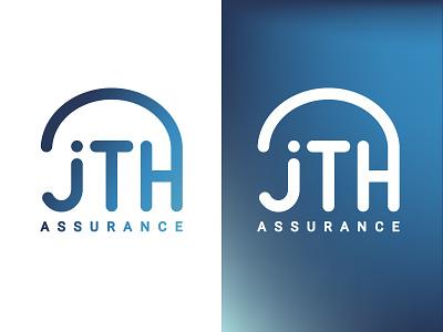 JTH Assurances gradient typography designer typo design vector branding logo insurance logo insurance