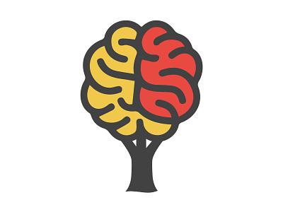 Brain X Tree branding design tree brain illustration designer design branding vector logo