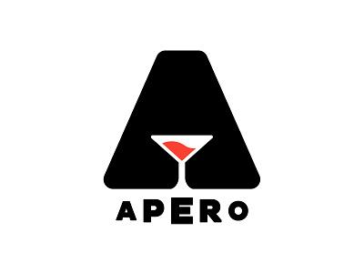 Apero minimalist black illustration typography typo designer design branding vector logo