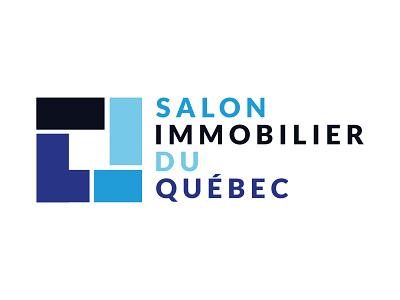 Salon Immobilier du Qu bec typography typo designer design branding vector logo