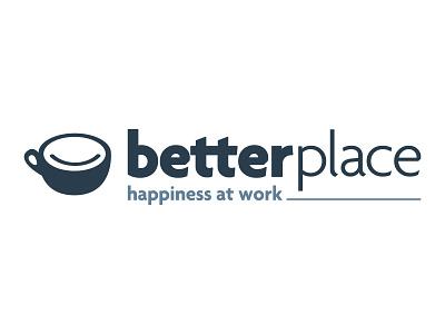 Better Place smile coffee typography typo designer design branding vector logo