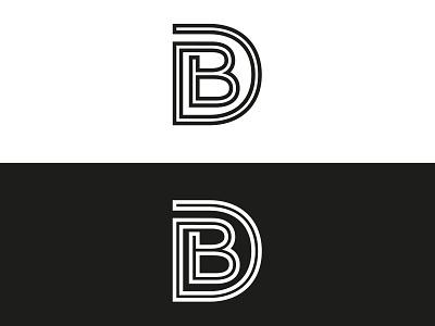 Logo | David Beaulieu typography typo white black db branding logo