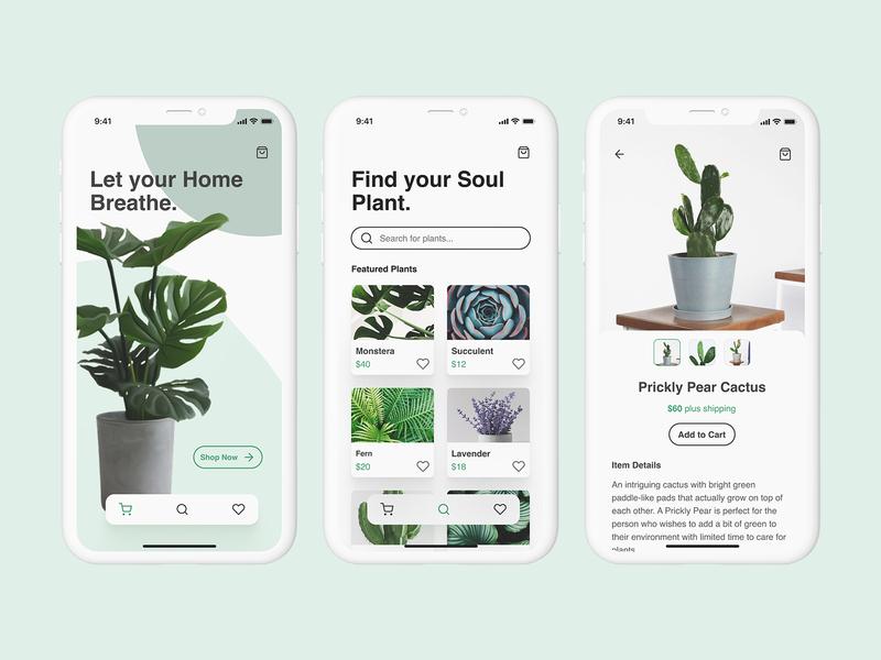 Plant E-Commerce App store app design plant store plant store app design store app shopping app app ecommerce app ecommerce ui design ui