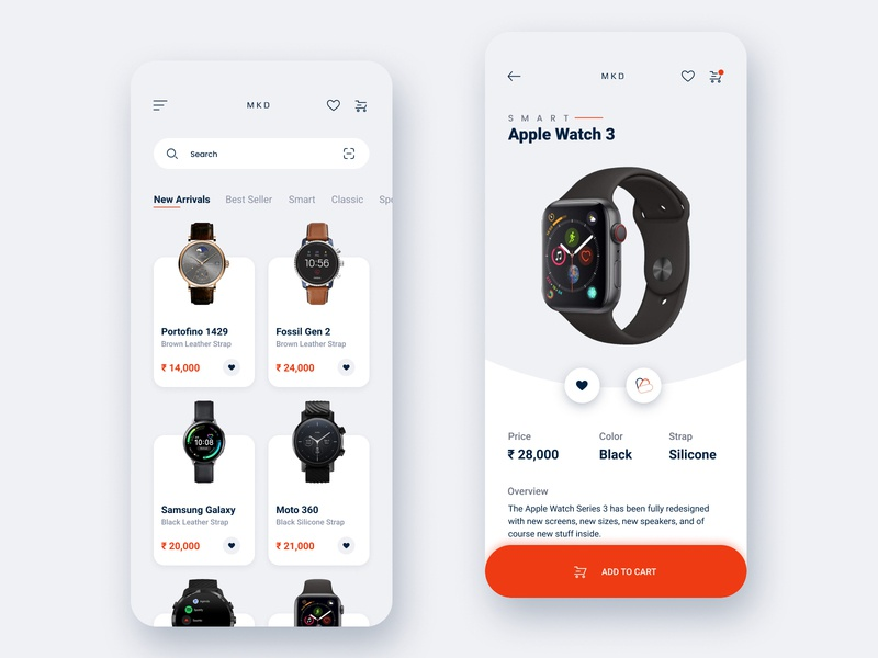 Watch E-commerce App conceptual minimal clean design ui ux interaction design mobile app design ecommerce design ecommerce app watch app apple watch app design 3d app 2020 trend 2020 design