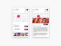 Calendar UI - Free Adobe XD concept