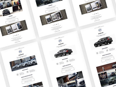 VolvoCars Mailing web webdesign website mailing cars volvo ui ux