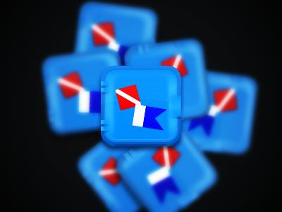Icon mock crate plastic icon