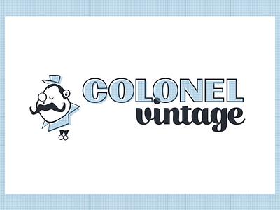 Colonel Vintage logotype illustration vintage colonel
