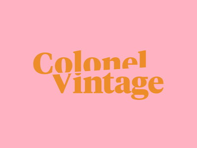 Colonel Vintage identity branding logo