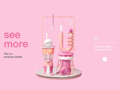 Studio Web c4d illustration ux pink web ui design